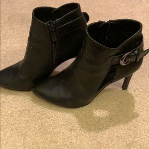 Black cut out booties size 8